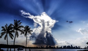 Cloud-Angel - fotografiert in Miami