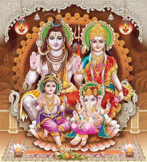 Indische Götter: Shiva - Lakshmi - Krishna - Ganesh